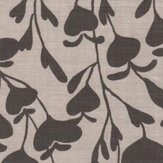 Bleeding Heart in Espresso | Clay McLaurin #textiles #fabric #linen #brown