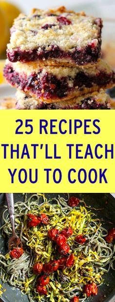 25 recipes that will help you learn how to cook sweet, blueberri crumb, food, cooki, crumb bar, yummi, recip, blueberries, dessert