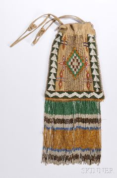 Beautiful colors on this Apache Beaded Bag, c. 1900