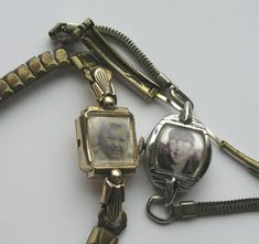 vintage watch picture frame bracelet - GREAT use for grandmas old watches!