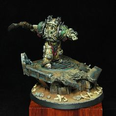 40k - Calas Typhon First Captain of the Death Guard Legion by MiniAkh