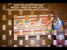 Decoupage c/ Falsas Pastilhas (de isopor)- Falso Mosaico