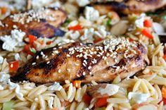 Lauren's Latest » Asian Chicken & Orzo Salad