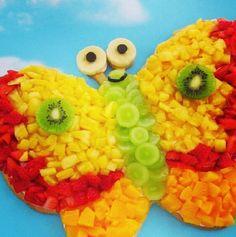Cute butterfly fruit platter