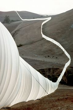 Running Fence, Sonoma and Marin Counties, California (1972-76). By Christo and Jeanne-Claude