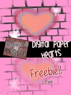 FREE Valentine's Day Digital Paper Backgrounds that are original, hand drawn works of art!  Graphics by SPC