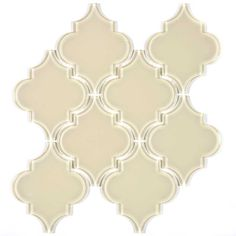 Glass Arabesque Tile (Cream) by Wholesalers USA Item #G9126  Our Price: $19.77Per Sheet