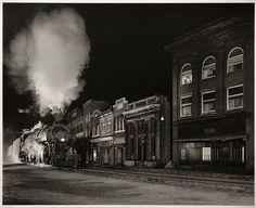 steam engin, forks, photograph, owinston link, west virginia, art, north fork, train, main street