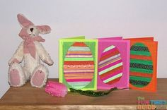 Homemade Easter cards - Fun Easter card ideas using Ribbon and Burlap!