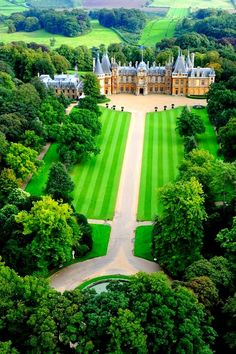 palac, england, country houses, waddesdon manor, castles, formal gardens, the village, buckinghamshir, place