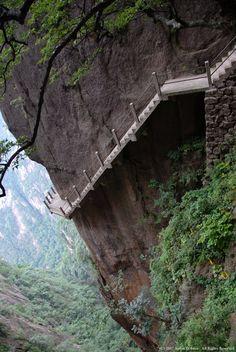 Cliff Path, Huangshan Mountain, China photo via nancy