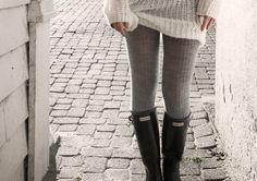 Gray sweater tights if I wear gray boots.