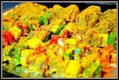 Chicken, Paneer and Vegetable Skewers ~ Food Fun Freak