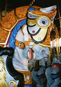 Cinderella's Golden Carousel at the Magic Kingdom in Walt Disney World, Florida, 2001  by Brian Sibley, via Flickr