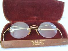 Vintage Eye Glasses Vintage Eye Glass Case Gold by TwigAndPaper, $18.98