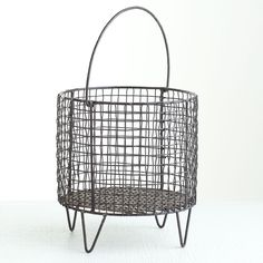Iron mesh basket for magazines. $129