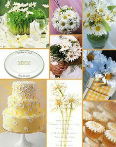 I like the cake. The daisy centerpiece is a cute idea, too.