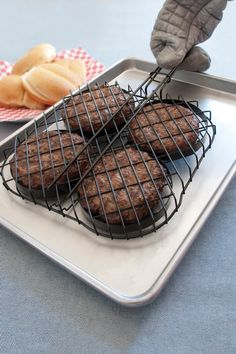 Hamburger grilling basket. Now I can stop my burgers from falling through the grill and turning into charcoal.