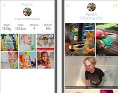 A free, easy baby book app for recording + sharing milestones