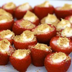 Cheesecake Strawberry Bites..What a good idea