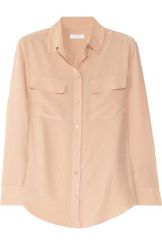 perfect & classic nude-y pink Equipment shirt, sz L