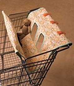 Cart Cover Pattern. This is a great idea to use for keeping cards and other items from falling thru the slots, even if you don't have children.