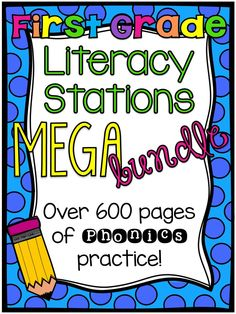 HUUUGE bundle of 1st grade literacy stations!!