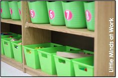 What is in my back to school math center tubs?  {Kindergarten}  FREEBIE too!