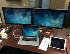 MacBook Pro with dual thunderbolt displays