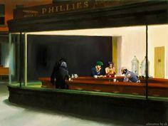 Cowboy Bebop Nighthawks painting