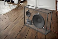 Transparent speakers by Swedish design company People People