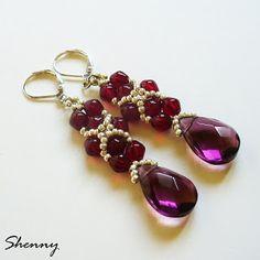 handmade by Shenny: Księżniczkowe. / Princess's earrings.