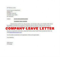 How to Write Company Leave Letter #stepbystep