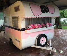 Vintage travel trailer, 1965 Safari, super cute little pink glamper camper in RVs & Campers   eBay Motors