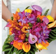 Possible wedding colors -- purple & orange