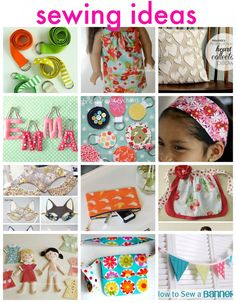 sewing ideas--cute and easy ideas for kids to learn how to sew!!!