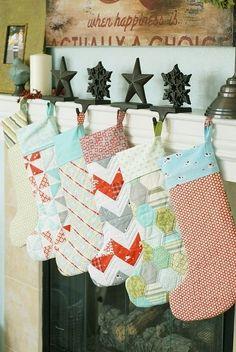 DIY Christmas stockings by debbie