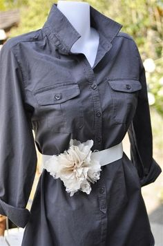 DIY floral belts