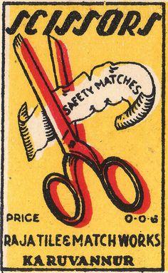 Vintage matchbook cover.