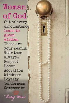 Pearls of wisdom - proverbs 31