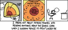xkcd -- the earth's core