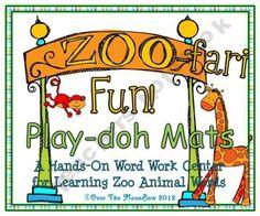 Zoo-Fari Fun! Play–doh Mats
