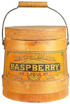 Knights & Mayo Preserves Wood Bucket