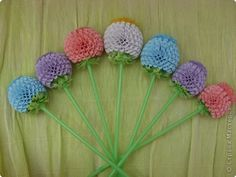 Quilled flowers with good picture tutorial