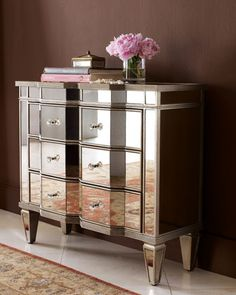 """""""Chelsea"""" Mirrored Chest at Horchow."""