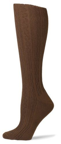HUE Women's Cotton Cable Knee Socks $5.00 (save $2.00)