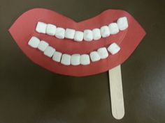 #Dental Health and Hygiene Preschool craft for #children.
