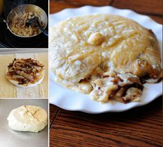 This is one of my most favorite appetizers --> Baked Brie with Caramelized Onions. So so good!