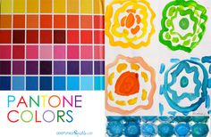 color art, panton color, art lessons, egg cartons, color patterns, picture books, childrens book art projects, lesson plans, kid