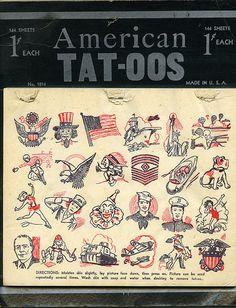old temporary tattoos